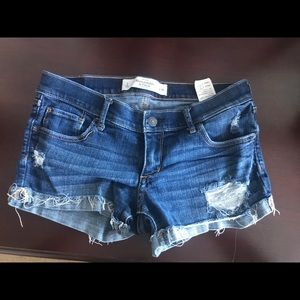 Abercrombie and fitch jean shorts size 2